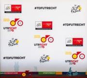 Grand vertrekt van Ronde van Frankrijk 2015 in Utrecht Stock Foto's