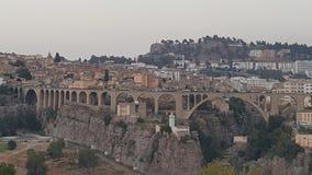 Grand vieux stecture de pont de Constantine Photos libres de droits