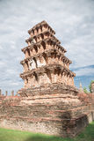 Grand vieux temple et beau fond Images libres de droits