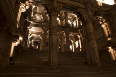 A  grand view of Adalaj step well . Ahmedabad, Gujarat Royalty Free Stock Image