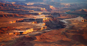 Grand view of Canyon. Grand View point Canyonland National Park, Utah Stock Images