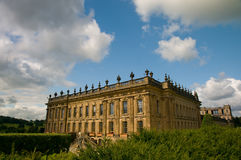 Grand view of chatsworth Stock Image