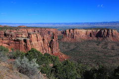 Colorado National Monument. GRand View in Colorado National Monument stock photography