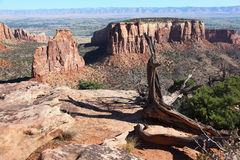 Colorado National Monument. Grand View in Colorado National Monument royalty free stock image