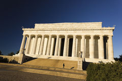 Grand view of the eastern facade of the Lincoln Memorial, National Mall, Washington DC. Grand view of the historic Lincoln Memorial including it`s ceremonial Royalty Free Stock Image