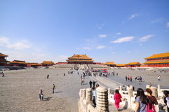 Grand view of the Forbidden City, Beijing. China Stock Photography