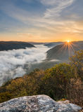 Grand View or Grandview in New River Gorge Royalty Free Stock Images