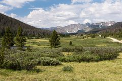 Grand View of the Never Summer Range in Northern Colorado royalty free stock photo