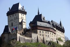 Grand View Of Karlstejn Castle Royalty Free Stock Images