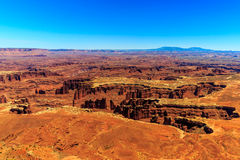 Grand View Point. View from the Grand View Point in Canyonlands National Park, Utah Royalty Free Stock Images