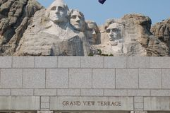Grand View Terrace. In Mount Rushmore National Memorial, Keystone South Dakota – August 26, 2012 stock photo