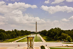 The grand view of Washington`s National Mall from the Lincoln Memorial Royalty Free Stock Photos