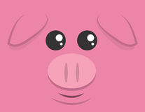 Grand visage de porc illustration libre de droits