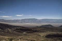 Grand vista of the Death Valley National Park California. Wide open vista of the Death Valley National Park in summer California Stock Photo