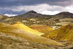 Grand vista of Painted Hills. Stock Photos