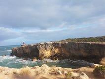 Grand voyage de route d'océan de l'Australie image libre de droits