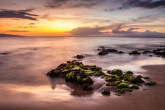 Grand Wailea sunset Stock Photos