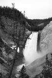 Grand Waterfall. This was a waterfall at Yellowstone National park. There are multiple paths that lead to views of the fall including one that is right next to Royalty Free Stock Photos