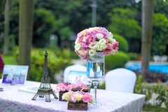 The decoration of the wedding Stock Photos