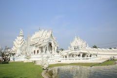 Grand white church call Wat Rong Khun Royalty Free Stock Photography