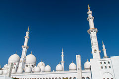Grand White Mosque Royalty Free Stock Photo