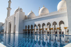 Grand White Mosque Royalty Free Stock Images