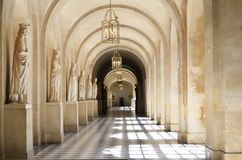 Grand wide  stone passage Royalty Free Stock Photography
