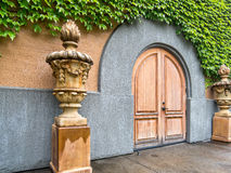 Grand winery entrance. Luxurious entry, Napa Valley winery Stock Photos