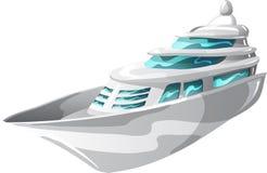 Grand yacht de moteur illustration stock