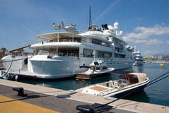 Grand yatch Photographie stock