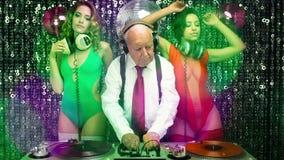 Grandad Dj And His 2 Dancing Gogos Royalty Free Stock Photo