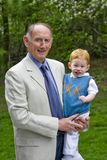 Grandad with grandson Stock Images