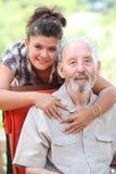 Grandad i granchild, szczęśliwa rodzina fotografia stock