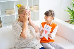 Grandmother and grandaughter Stock Photography