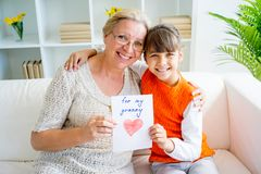Grandmother and grandaughter Royalty Free Stock Photography
