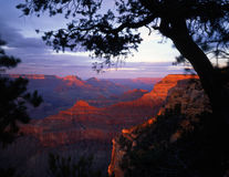 GrandCanyonSouthRim#3. The Grand Canyon, in Grand Canyon National Park Arizona, photographed from the South Rim at sunset Stock Photos