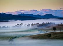 Grandchester地区的看法在伊普斯维奇/风景外缘地区,昆士兰的 免版税库存照片