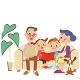 Grandchild and reading Stock Photo