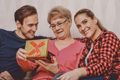 Gift for grandmother day stock image