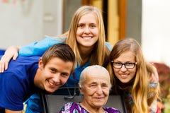 Grandchildren wizyta Fotografia Royalty Free