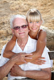 Granddad and granddaughter Stock Image