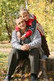 Granddad with grandson Stock Image