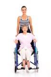 Granddaughter disabled grandmother Stock Photos