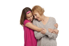 Granddaughter embracing her grandmother Royalty Free Stock Photography