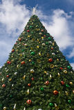 Grande árvore de Natal Imagens de Stock Royalty Free