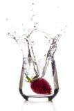 Grande éclaboussure de fraise Image libre de droits