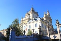 Grande église de St. Yuri Lvov Photos libres de droits