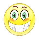 Grande émoticône de sourire Image libre de droits