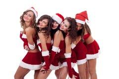Grande étreinte de Noël de groupe Images stock