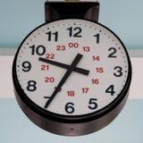 Grande 24 orologi di ora all'aperto Immagine Stock